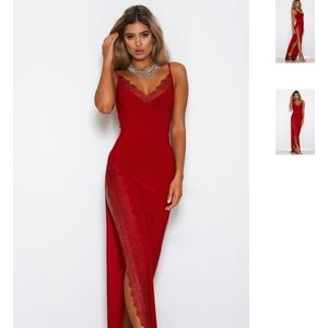c3624229 Abyss By Abby Dresses   Worn Once Abyss Ricci Red Lace Gown   Poshmark
